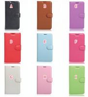 achat en gros de téléphones xperia-Pour LG K10 2017 LV5 G6 Nokia 6 Sony Xperia XA1 Portefeuille Flip Housse en cuir Litchi TPU Stand ID carte Purse Phone Folio Cover Luxe 50PCS