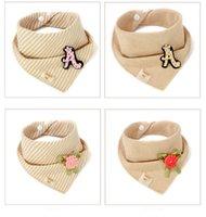 Wholesale 2016 fashion comfortable Colored cotton baby triangular bandage saliva towel cotton double hidden interlocking children triangular bandage