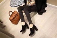 Wholesale Sexy fashion Lady Dress Shoes Short Boot Women Toes High Heels Suede Festival Party Wedding Shoes Formal Pumps Ankle Boots