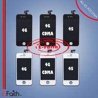 Grade A Affichage à cristaux liquides pour iPhone 4S 4 GSM CDMA avec écran tactile Digitizer remplacement 20 pcs / lot