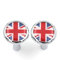 Wholesale Brand New Union Jack style ABS Plastic UV Protected Chrome Door Lock Button for mini cooper F55 F56 F57 R55 R56 R60 Set