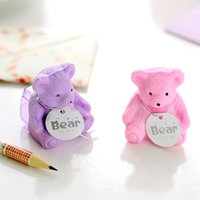 backpacks old navy - creative stationery cute cartoon bear backpack eraser pencil sharpener student school supplies