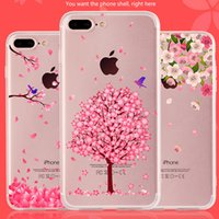 Wholesale For iPhone Dirt resistant Covers Cases Flower Animal Painted Design TPU Soft Mobile Phone Back Shell