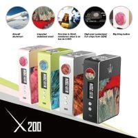 Cheap Dual 18650 battery not included e liquid vaporizer mod Best 200w extra 18650 battery 510 thread atomizer vape mod 200w