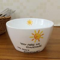 Wholesale Dia Creative Quadrate Sun Porcelain Bowl Christmas Candy Dessert Bowls Salad Fruit Snack Bowls Dinnerware