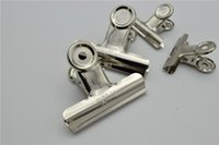 Wholesale 72pcs good quality mm Grip Clips Bulldog Clips Letter Clips Silver Metal Clip size mm for office toll