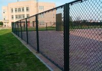 Wholesale Green PVC Coated Chain Link Fence High Quality Wire Mesh Diamond Fence Cheap Security Fence Netting used in Road or playground