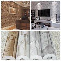 Wholesale D PVC modern brick wallpaper for living room vintage brick imitation grain stone grain wall paper papel de parede tijolo