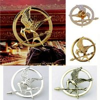 Unisex antique shawls - Solar System The Hunger Games Jay Antique Bronze Christmas Gift Shawl Badge Pin Bag Brooch for Women Men G1R6C