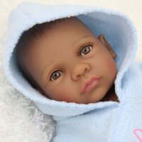 african american plays - 10pcs Black Reborn Boy African American Baby Doll Reborn Cloth Body Soft Touch Silicone Baby Dolls For Gift Play House Toys