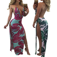 Night Out & Club amazon flooring - L5107 Amazon Sexy Summer Number Printing Dress Neck Hanging Dew Back Color