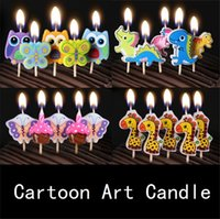 Wholesale Happy birthday Art candle kids gift mini candles Birthday exotic atmosphere source valentine day gift decoration B1071
