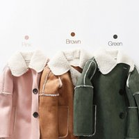 Wholesale Install new winter warm color thickening children cashmere coat child scrub lamb