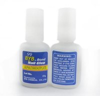 alpha bonds - piece10g Strong BYB Bond Adhesive Nail Glue With Brush False French ACRYLIC Tips Alpha Cyanoacrylate Nail Art Care Glue