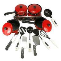 Wholesale 13Pcs Kid Play House Toy Kitchen Utensils Pots Pans Cooking Food Dishes Cookware