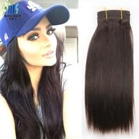Brazilian Remy Hair Bundles Color 2 Más oscuro Brown Seda Brasileña Straight Cuerpo Onda Profundo Rizado Calidad Cabello Humano Weave Bundles