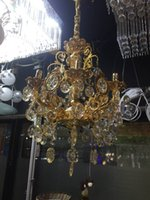 Wholesale Factory direct crystal goden chandelier light in the bedroom living room restaurant creative lamp
