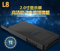 Wholesale L8 no hole HD P video mobile Power Bank External Battery Spy Hidden Camera DVR Video Night Vision