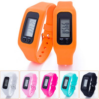 Cheap LED LCD Pedometer watches Best English On Wrist Run Step Walking silicone watch