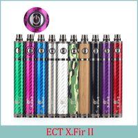 Wholesale ECT original x fir II Battery mah vision spinner II upgraded battery V V for electronic cigarette thread Vape Pen