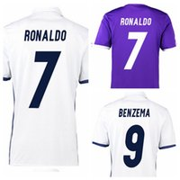 Wholesale 2017 Ronaldo Reals Madrid jersey Soccer jersey MODRIC BALE KROOS ISCO BENZEMA football shirts All Teams Soccer Wears