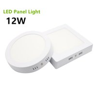 Wholesale 2835 SMD Surface Mounted LED Panel Light W Round Square LED Ceiling Lights LED Downlight AC85 V Cool White Warm White CE