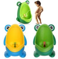 Wholesale Kids PP Frog Potty Toilet Training Children Urinal for Boys Pee Trainer Bathroom Wall mounted Training Toilet KKA1482
