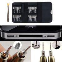 al por mayor conjunto pentalobe-25 en 1 destornilladores de Torx Phillips de la ayuda Pentalobe del kit de herramientas de la abertura de la reparación fijados para el reloj de la cámara de la PC del iPhone liberan el envío