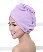 Wholesale Double pack Microfibre Hair Wrap Drying Spa Turban Towel blue white pink white yellow purple green pink