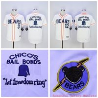 bears throwbacks - 2016Majestic Bad News BEARS Movie Button Down Jersey Stitched Bad news BEARS Chicos Bail Bonds Retro Throwback Baseball Jersey White