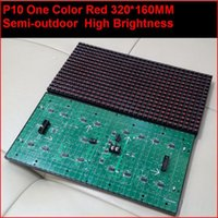 Wholesale pixe10mml semi outdoor indoor red one color hub12 monochrome p10 led sign module p10 single color red pane
