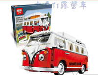 Wholesale 2016 New LEPIN Creator Volkswagen T1 Camper Van Model Building Kits Minifigure Bricks Toys Compatible