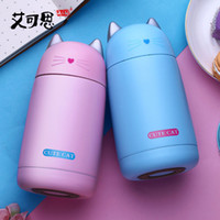 Wholesale Thermos Cup Cartoon Cat Thermo Mug Drinkware Kids Water Bottle Stainless Steel Child Vacuum Flask cup Tumbler leak proof Tumbler