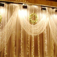 Curtain ac clubs - 300 leds Waterfall Outdoor Christmas Xmas LED String Fairy Wedding Event Curtain Holiday Light V Home Garden Clubs Hotels