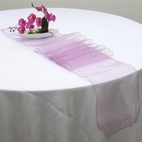 Wholesale Hot Sale Wedding Table Runner Pieces cm Organza Table Runners Wedding Party Supply Decorations mixed Colors Table Runner