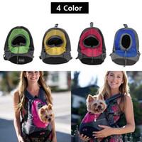 Wholesale 2017 new brand Pet Carrier dog Backpack breathable Portable Travel Bag Pet Dog Front Bag Mesh Backpack Head Out Double Shoulder Outdoor