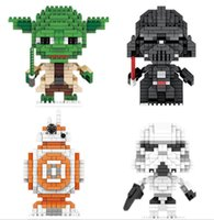 Wholesale LNO NEW ARRIVE LNO Set Star Wars Building BB8 Diamond Block Brick yoda D DIY toy Figure Christmas Gift Present