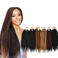 al por mayor xpression trenzado de pelo al por mayor-Venta al por mayor-18 '' La Habana Mambo Crochet Twist Braid Extensión del Cabello 3 Xpression Afro Crotchet Trenzado Hair Resistente al Calor Hair Extension Braid