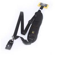 Nuevo bolso de hombro de la cámara Solo hombro Sling Negro Correa Correa Eslinga Esponja Pad para Canon para Nikon para Sony DSLR Cámara