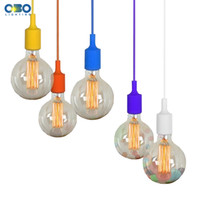 Wholesale Colorful Pendant Lamp Modern Vintage Bar Restaurant Bedrooms Hanging Lamp Large Shopping Mall Muuto E27 Art Pendant Light