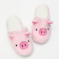 Grossiste-2016 Automne Hiver Unisexe Animaux Chaussure mignonne Chaussons Coton Indoor Chaussure Chaude Plus Taille Anti-Slip Confortable Home Furnishing