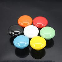 Wholesale Candy color Round Ceramic Drawer Knob children European Cabinet Cupboard Door Pull Handle x2 x3 cm