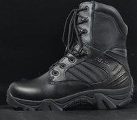 Botas del desierto del xue del delta de los altos militares de la ayuda de los zapatos de la guerra de los zapatos de los hombres cargadores impermeables masculinos del tobillo trabajo que va de excursión tamaño 39-45 de los zapatos