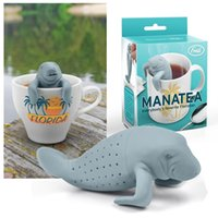 Wholesale 100 Food Safe Manatea Infuser Manatee Mana Tea Strainers High Quality Silicone Rubber DHL