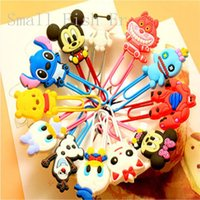 animation clips - Kawaii animail Bookmarks Mickey Minnie Silicone Animation Book Marker Paper Clip Page Holder Office school Stationery