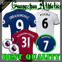 Wholesale 2016 best Thailand Quality Jersey home away rd jerseys UnITED Ibrahimovic MEMPHIS ROONEY POGBA jersey
