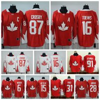 Wholesale 2016 World Cup Ice Hockey Canada Team Jerseys Crosby Price Toews Stamkos Giroux Weber Getzlaf Men s Jersey Mixed Order