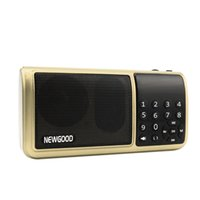 battery song - FM radio Mini portable subwoofer digital songs speaker with powerful battery and LED time display TF Card support