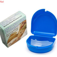 Wholesale Mouth Guard Stop Teeth Grinding Anti Snoring Bruxism with Case Box Sleep Aid Eliminates Snoring Health Care Snoring Cessation LPP001259
