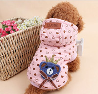 Sweaters & Sweatshirts Spring/Summer Mardi Gras Winter Pet Dog Clothes Wear Jacket New Small medium Big Pet dog Winter Warm Small Dog Pet Clothes Padded Hoodie Jumpsuit Pants Apparel